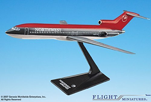 Flight Miniatures Northwest Airlines NWA 1989 Boeing 727-200 1/200 Scale Display Model