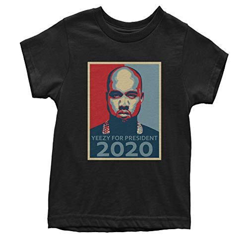 Motivated Culture Youth Yeezy for President T-Shirt Large Black