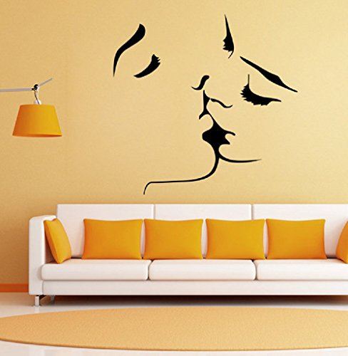 1MATCH Kiss Wall Murals for Living Room Bedroom Sofa Backdrop Tv Wall Background, Originality Stickers Gift, DIY Wall Decal Wall Decor Wall Decorations by 1MATCH (Image #1)
