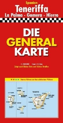 Die Generalkarte Teneriffa 1 150 000