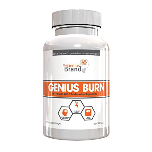 GENIUS FAT BURNER - Thermogenic Weight Loss & Nootropic Focus Supplement - Natural Metabolism & Energy Booster for Men & Women | Thyroid Support and Appetite Suppressant w/Gymnema Sylvestre, 60 Pills by The Genius Brand