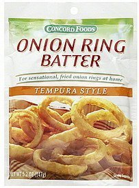Concord Foods, Onion Ring Batter Mix, Tempura Style, 5.2oz Packet (Pack of -