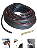 KING FENDER FLARES Edge Trim Rubber Gasket WELTING T-Style 30' FEET - with Alignment Tool for CAR and Truck Wheel Wells - Double Edge - Length 30' FEET - Automotive Adhesive 3M Tape Bonds to Flare