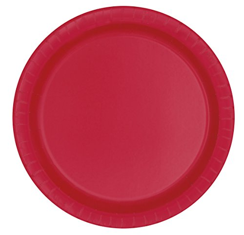 Red Paper Cake Plates, 8ct