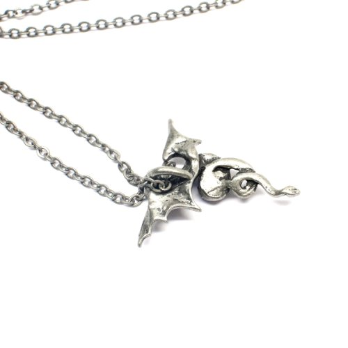 Gilind Gothic Bat or Dragon Necklace Jewelry (with Gift Box) HO1qZz