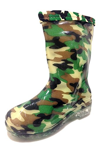 Product image of Unisex Toddlers, Kids, Rain Boots Camouflage, Camo Shoes, Military, Army, Lining (8)