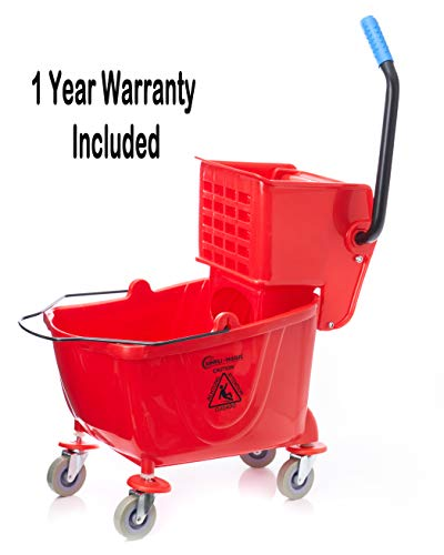 Simpli-Magic 79199 Mop Bucket with Wringer, Red