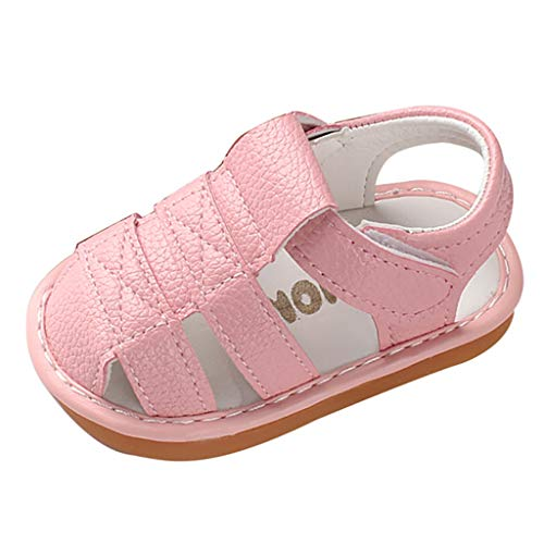Vielgluck_Sandal 2019 Summer Deal! Sandals for Toddler Girls Boys Roman Hollow Soft Bottom Anti-Slip Ankle Bukle Summer Casual Pre-Walking Shoes