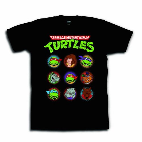 [Teenage Mutant Ninja Turtles Group Black Adult T-shirt L] (Adult Ninja Turtle)