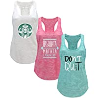 Tough Cookie's Women's Gym Athletic Workout Tank Top 3 Pack Deal #3