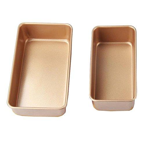 MBB 2x Loaf Pan Bread Cake Bakeware Baking 8'' & 9'' Gold