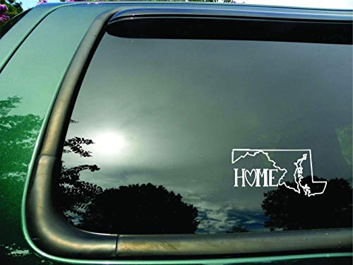 Massachusetts Clay - Red Clay Designs Massachusetts State- Home (J)- Die Cut White Vinyl Window Decal/Sticker for Car or Truck 4