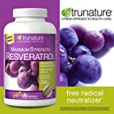 TruNature Resveratrol Maximum Strength with Red Wine Extract-250mg -140 Softgels, Health Care Stuffs