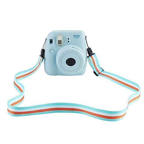 SAIKA Camera Shoulder Neck Strap for Fujifilm Instax Mini 9/8 / 8+ / 7s / 25/26 / 50s / 70/90 Instant Camera, Adjustable Belt Neck Strap for Polaroid Camera and Digital Camera