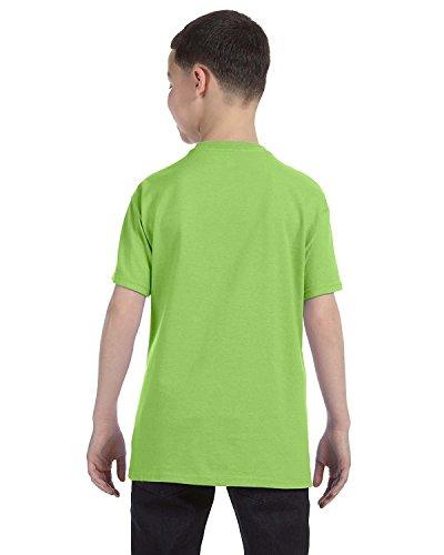 Jerzees Youth 5.6 oz., 50/50 Heavyweight Blend T-Shirt, Medium, KIWI (Youth Blend Jerzees Heavyweight)