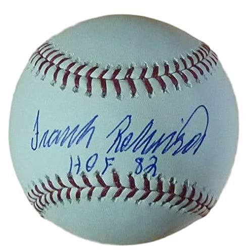 (Frank Robinson Autographed Signed OML Baseball w/HOF 82 - Certified Authentic)
