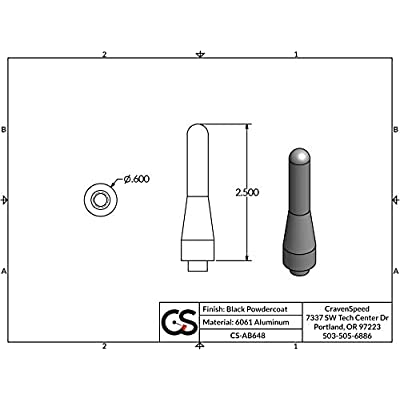 CravenSpeed Stubby Antenna Replacement for BMW E46 3 Series 1999-2006   2.5 Inches: Automotive