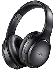Active Noise Cancelling Headphones, Boltune Bluetooth 5.0 Over Ear Wireless Headphones with Mic Deep Bass, Comfortable Protein Earpads 30H Playtime for Travel Work TV PC Cellphone