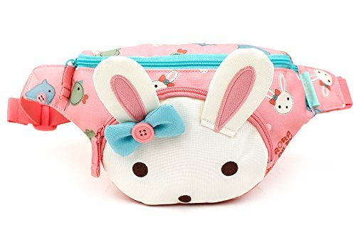 Roraailey Charming Rabbit Girls HipSack Waist Pack Fanny Phone Wallet (Pink)