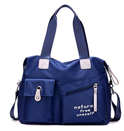 AalarDom Fourre tout TSFBG181417 tout bandoulière Bleu Nylon fourre Femme Bleu à Sacs Sacs r5Hzarqw