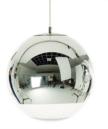 Silver Ball Pendant Light in US - 9