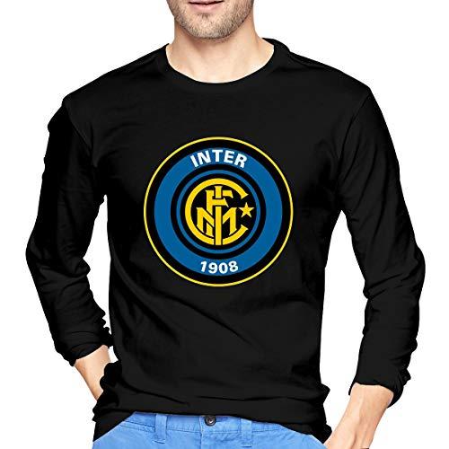 BAIDAFEILI Inter Milan FC Men's Long Sleeve T-Shirt with Round Collar