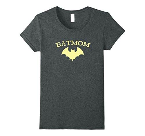 Womens Womens Batmom Super Hero Proud Mom Halloween Costume Gift XL Dark -