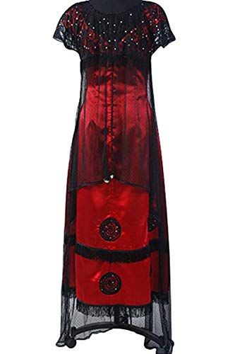 SIDNOR Titanic Rose Evening Ball Gown Party Dress Cosplay Costume Jump Victorian Outfit (Medium)]()