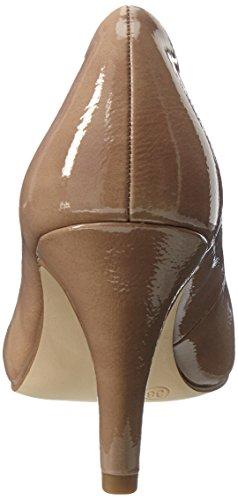 Beige Tacco Scarpe 22465 con Tamaris Patent Donna Nude TH1qUXnw