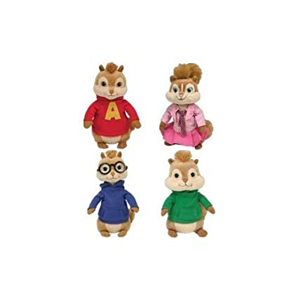 Amazon.com  Ty Beanie Babies SET OF 4 ALVIN   THE CHIPMUNKS  Misc.   Toys    Games acc99b451630