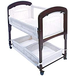 Arm's Reach Concepts Cambria Co-Sleeper, White & Espresso