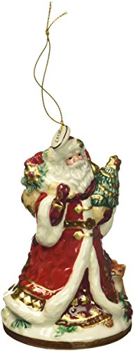 Fitz and Floyd 49-678 Renaissance Holiday Dated 2017 Bell, Santa Bell Ornament - Fitz And Floyd Renaissance