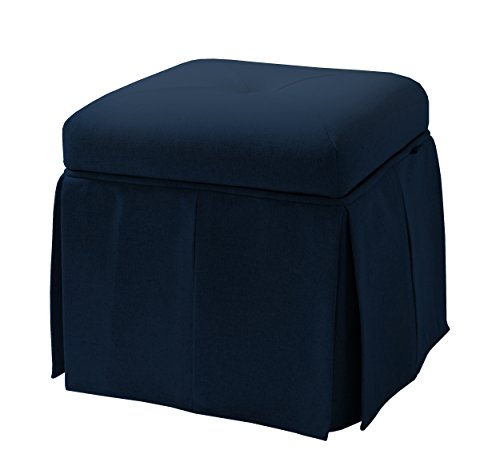 Jennifer Taylor Home 2358-878 Stacy Storage Vanity Stool, Midnight Blue