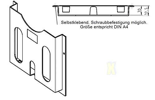 20x Schaltschrank Schaltplantasche A4 Kunststoff selbstklebend anschraubbar
