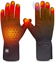 Heated Glove Liners for Men Women,Rechargeable Electric Battery Heating Riding Ski Snowboarding Hiking Cycling