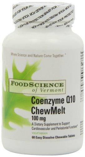 Питание Наука Вермонта Коэнзим Q10 100 мг ароматный Chewmelt, оранжево-Ананас, 60 граф