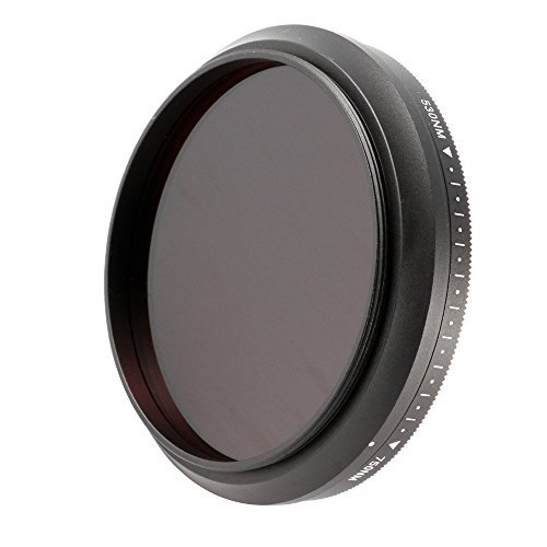 Ruili 55mm Six-in-One Adjustable Infrared IR Pass X-Ray Lens Filter 530nm to 750nm Screw-in Filter for Canon Nikon Sony Panasonic Fuji Kodak DSLR Camera by Ruili