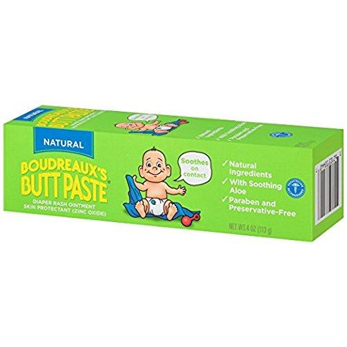 Boudreaux's Butt Paste Diaper Rash Ointment, Natural, 4 Ounce (Pack of 2)
