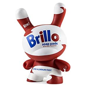 Andy Warhol White Brillo 8-inch Masterpiece Dunny Vinyl Figure by Kidrobot