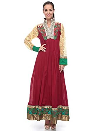 Blueline Fashion Red Casual Jalabiya For Women