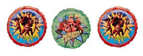 3 Incredibles Birthday Foil Balloons by The Incredibles ()