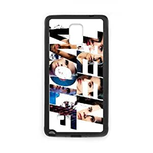 Teen Wolf 007 Funda Samsung Galaxy Note 4 Funda caja del teléfono celular Negro U5T9SV Durable Design Phone Case