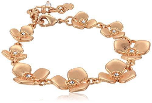 Lucky Brand Floral Link Bracelet, Rose Gold, One Size
