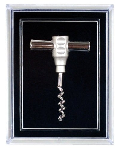 (Pocket Corkscrew Pin, Silver Plated)