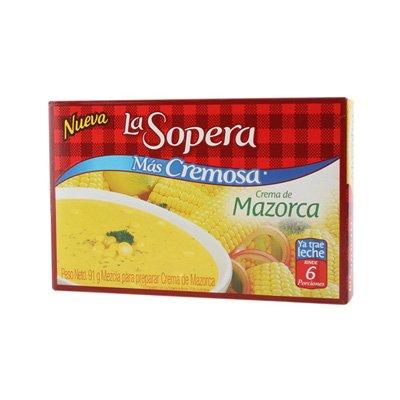La Sopera Corn Cream - Crema de Mazorca 3 Portions 43.5g - Colombian Food Products