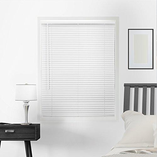 CHICOLOGY Horizontal Venetian Slat Window Shade Cordless 1-Inch Mini Blinds, 39