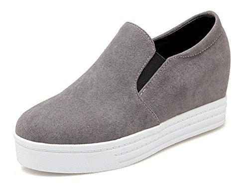 zapatos del resorte zapatos perezosos aumentaron los zapatos del ocio de la corteza gruesa Grey