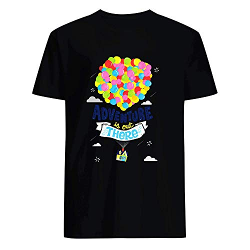 USA 80s TEE Adventure is Out There Shirt Black