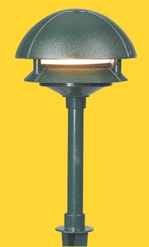 Corona CL-642-GR -Low Voltage/ 12V Area Light Aluminum 2 Tier Deco Pagoda, Green