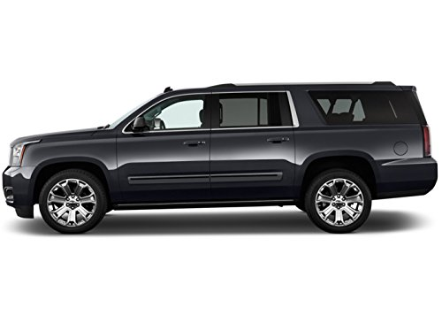 Painted Body Side Molding with Color Insert for GMC Yukon XL (2015-2016) - Switchblade Silver Metallic (WA636R) with Deep Blue Color Insert (Ci2 Replacement Blades compare prices)